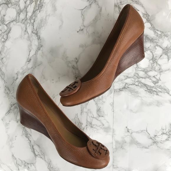8c9e2afd9884c Tory Burch Shoes - Tory Burch Women s Wedge Tan Leather Sally
